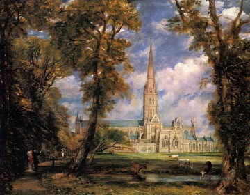 Salisbury Cathedral Romantic landscape John Constable Oil Paintings